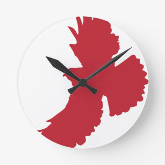 Eagle Silhouette Round Clock