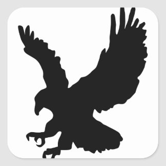 Eagle Silhouette Square Sticker