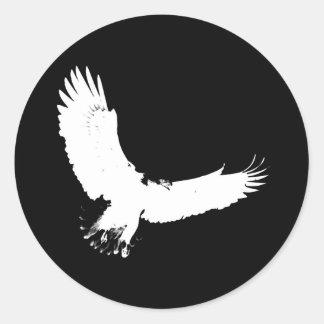 Eagle Silhouette Round Sticker