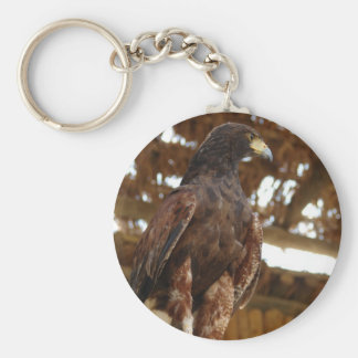 Eagle sitting keychain