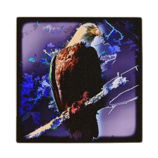 Eagle Sketch Wood Coaster