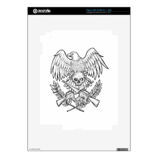 Eagle Skull Assault Rifle Drawing Skins For iPad 2