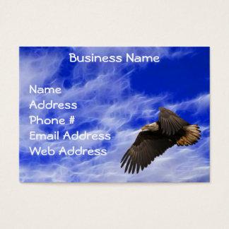 Eagle, Sky & Fractal Clouds Business Cards