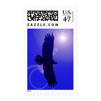 Eagle Slhouette & Blue Sky Postage Stamps