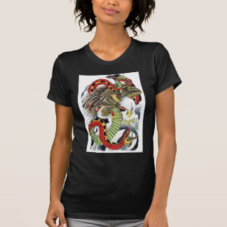 Eagle & Snake tattoo design Tshirt