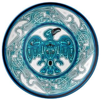 Eagle Spirit Journey Mandala Porcelain Plates