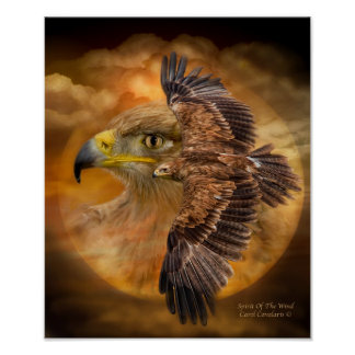 Eagle-Spirit Of The Wind Art Poster/Print Poster