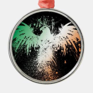 Eagle Spread! - Green White Red Pride! Metal Ornament