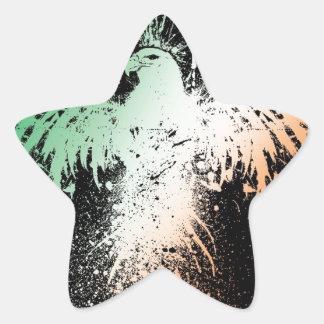 Eagle Spread! - Green White Red Pride! Star Sticker