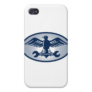 eagle spread wing carrying spanner cases for iPhone 4