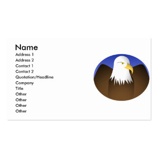 Eagle Spreading Wings Blue Skies Double-Sided Standard Business Cards (Pack Of 100)