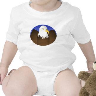 Eagle Spreading Wings Blue Skies Baby Bodysuit