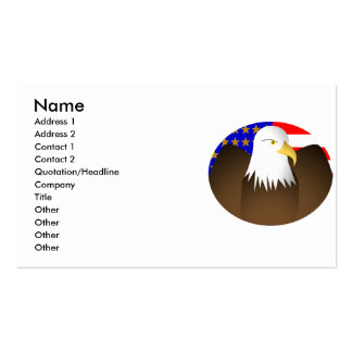 Eagle Spreading Wings Stars And Stripes Double-Sided Standard Business Cards (Pack Of 100)