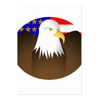 Eagle Spreading Wings Stars And Stripes Large Business Cards (Pack Of 100)