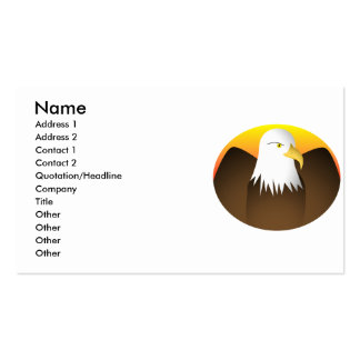 Eagle Spreading Wings Sunset Double-Sided Standard Business Cards (Pack Of 100)