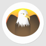 Eagle Spreading Wings Sunset Sticker