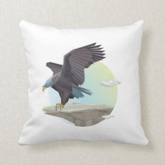 Eagle stand throw pillow