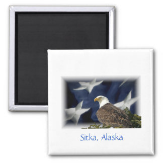 Eagle Star Square Magnet