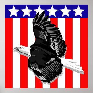 Eagle Stars & Stripes Poster