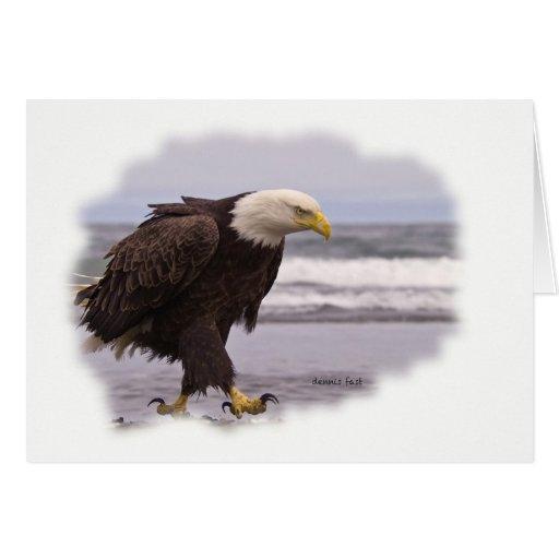 Eagle stomping greeting card