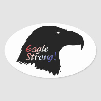 Eagle Strong oval sticker