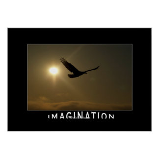 Eagle & Sun IMAGINATION Motivational Photo Print
