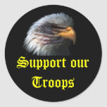 eagle, Support our Troops Round Stickers