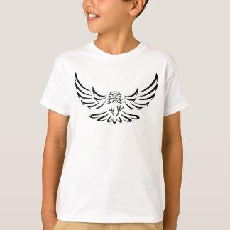 Eagle Swooping negro/halcón 1 Remeras