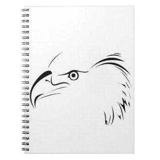 Eagle Symbol Spiral Notebook