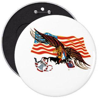 Eagle-Tea-Part-Ver-4 Pinback Button