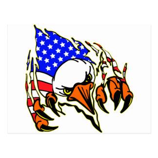 Eagle Tearout con el tatuaje de la bandera Postales