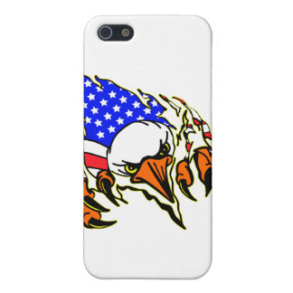 Eagle Tearout W/ American Flag Tattoo Case For iPhone SE/5/5s