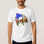 Eagle Tearout W/ American Flag Tattoo Shirt