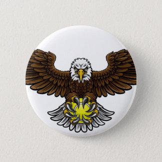Eagle Tennis Sports Mascot Button