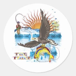 Eagle-Thief-3 Classic Round Sticker