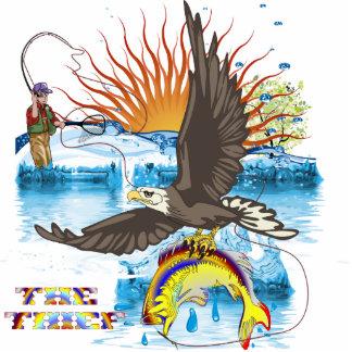 Eagle-Thief-3 Fotoescultura Vertical