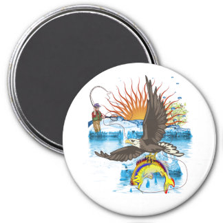 Eagle-Thief-3-No-Text 3 Inch Round Magnet