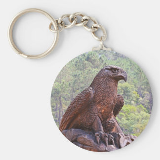 Eagle totem carving, Portugal 2 Keychain