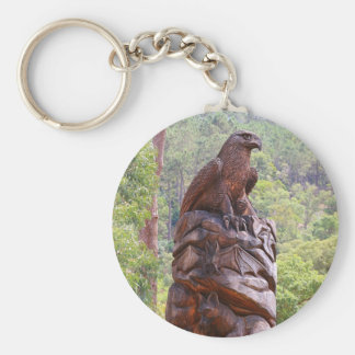 Eagle totem carving, Portugal Keychain