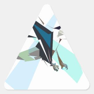 eagle triangle sticker