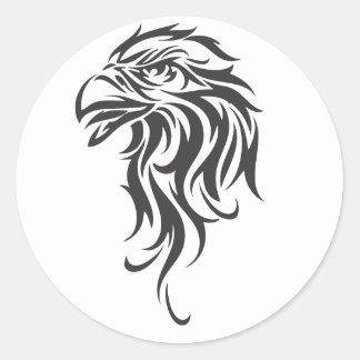 Eagle tribal pegatina redonda