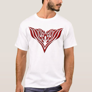 Eagle Tribal Tattoo - red and black T-Shirt