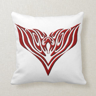 Eagle Tribal Tattoo - red and black Throw Pillow