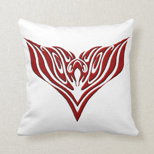 Black Tribal Throw Pillow : Eagle Tribal Tattoo - red and black Throw Pillows Zazzle