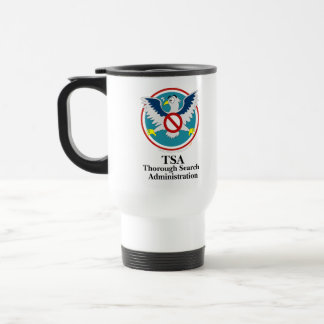 Eagle TSA Funny Cartoon (Touch My Junk) 15 Oz Stainless Steel Travel Mug