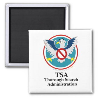 Eagle TSA Funny Cartoon (Touch My Junk) 2 Inch Square Magnet