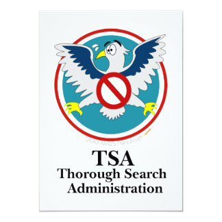 Eagle TSA Funny Cartoon (Touch My Junk) Card