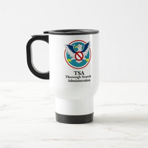 Eagle TSA Funny Cartoon (Touch My Junk) Coffee Mug