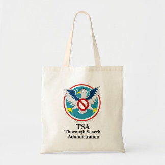 Eagle TSA Funny Cartoon (Touch My Junk) Tote Bag