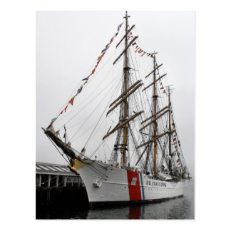 Eagle U.S. Coast Guard Tall Ship Postcard